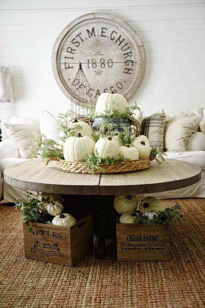 Thanksgiving Home Decor Ideas - White Pumpkins