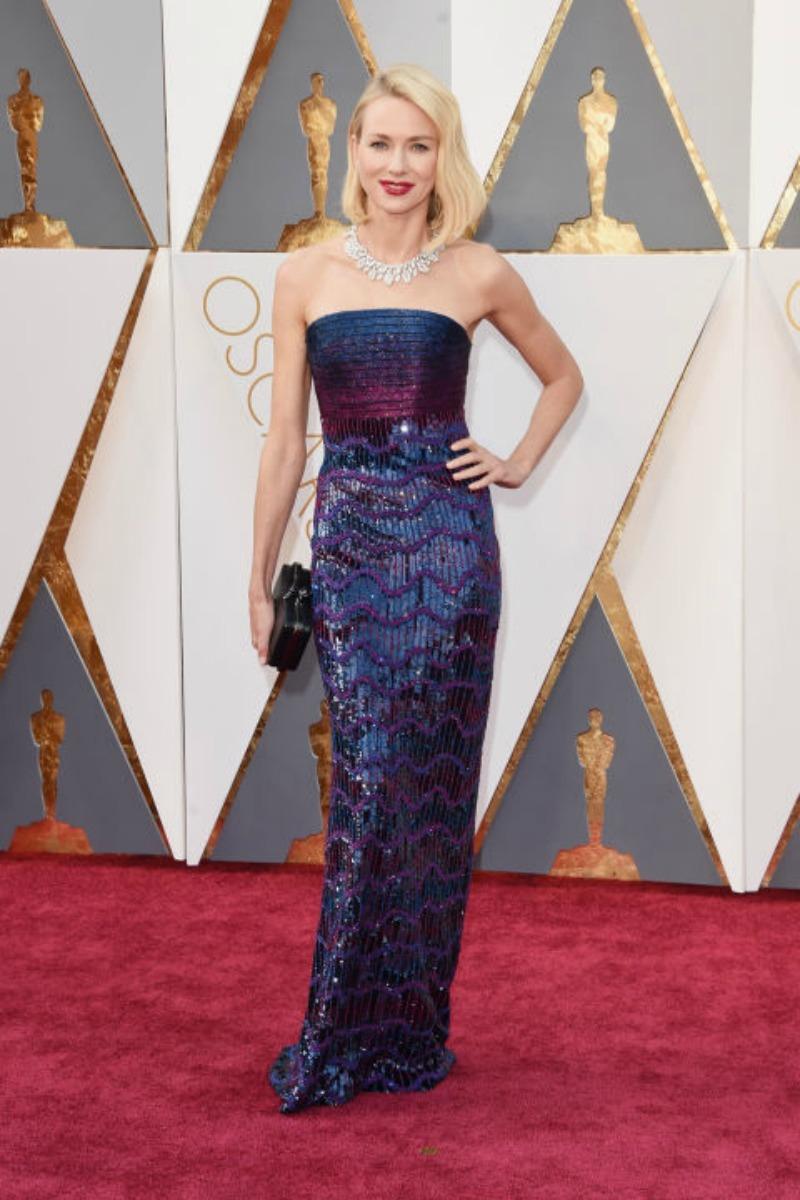 Oscars 2016 Best Dressed - Naomi Watts in Armani Prive
